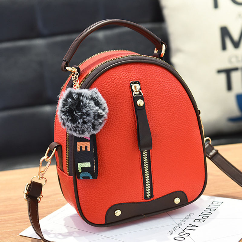 New Summer Girl Small Round Bag Retro Backpacks Wrist Bag Fashion Rivet Women Small Travel Bags For Ladies Multifunctional Bag