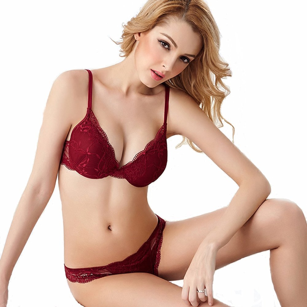 Newest sexy Women Lingerie Lace   Bra     Set   Sexy Transparent Push Up   Bra   Women Underwear   Bra  &Panty   Sets