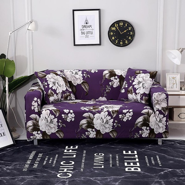 Floral Leaves Printing Sofa Cover Tight Wrap All Inclusive