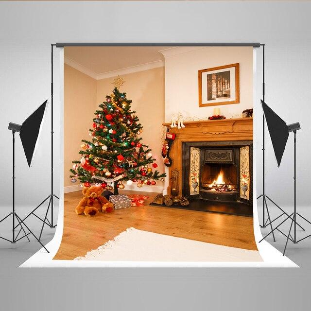 Kate Weihnachtsbaum Hintergründe Baumwolle Fotografie Hintergrund Foto Hintergrund  Für X Mas Tag Kamin Dekoration