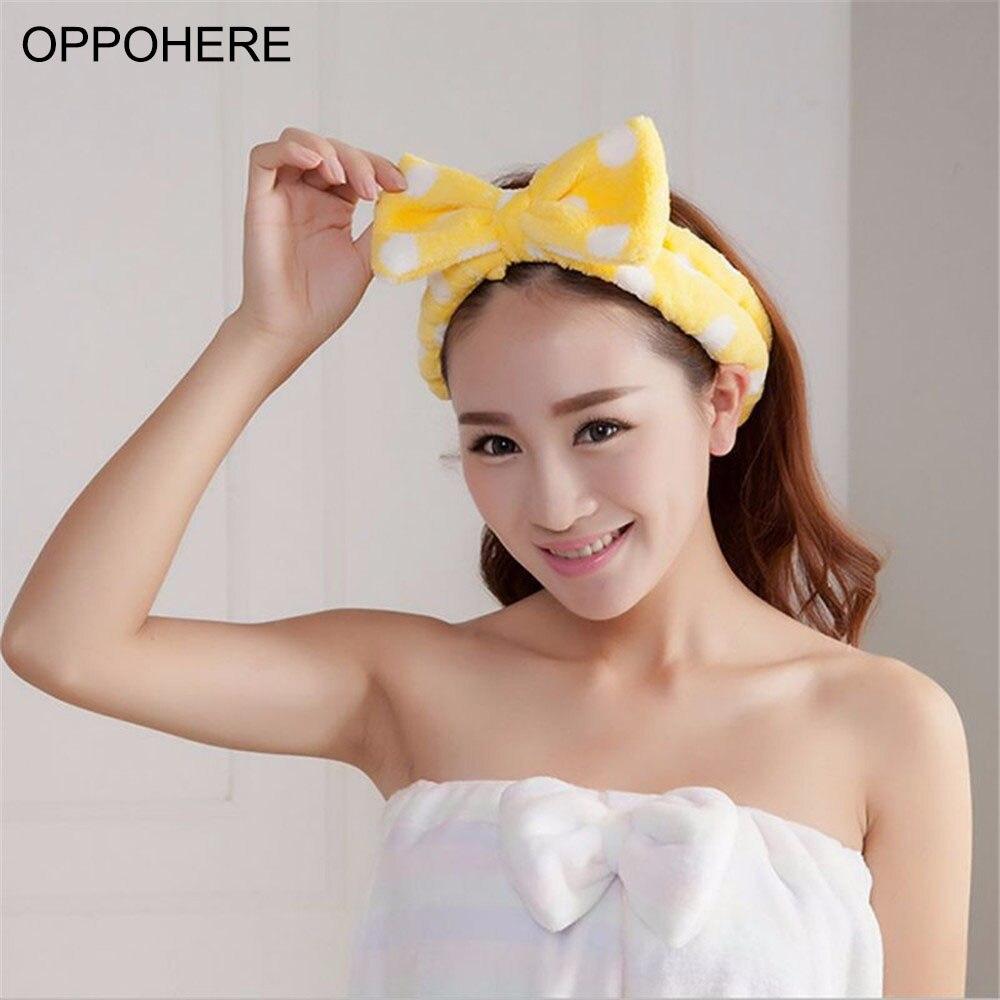 Spa Bath Shower Make Up Wash Face Cosmetic Headband Hair Band Accessories Sale Velvet Headband тушь make up factory make up factory ma120lwhdr04