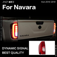 AKD Car Styling for Nissan Navara Tail Lights 2016 2019 NP300 LED Tail Lamp DRL Brake Dynamic Signal Reverse auto Accessories