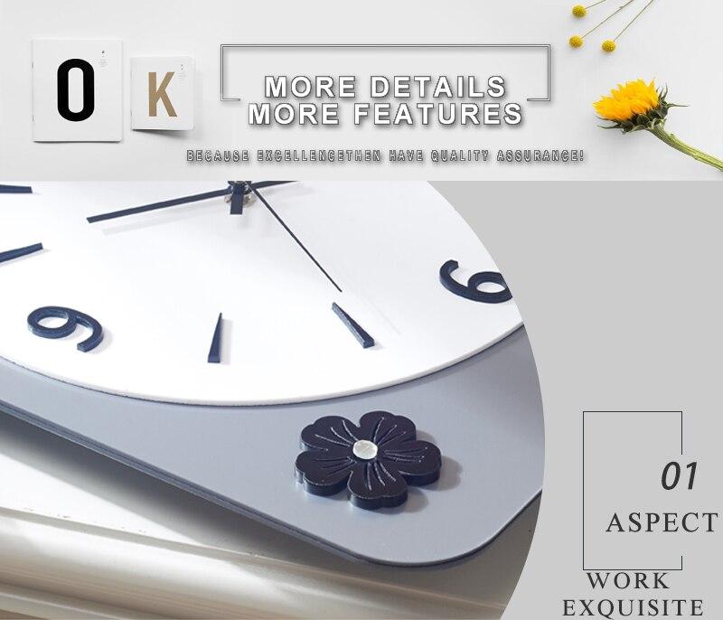 Rock n Roll Wall Clock Retro Room Clock Cloock Nordic Clock Wood Wall Clock Mickey Kitchen Big Clock Wall Mirror Wall Clock Watch (3)