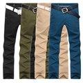 ДИ MOONLY Марка 2016 новое прибытие Мужчина случайно брюки мужские мужская одежда брюки мужские тонкие прямые повседневные брюки 4 цветов