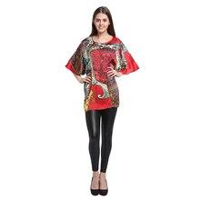 Шелковая Футболка с принтом летучей мыши/ натуральный шелк тутового дерева/ весенне-летний модный дизайн для женщин/Большие размеры