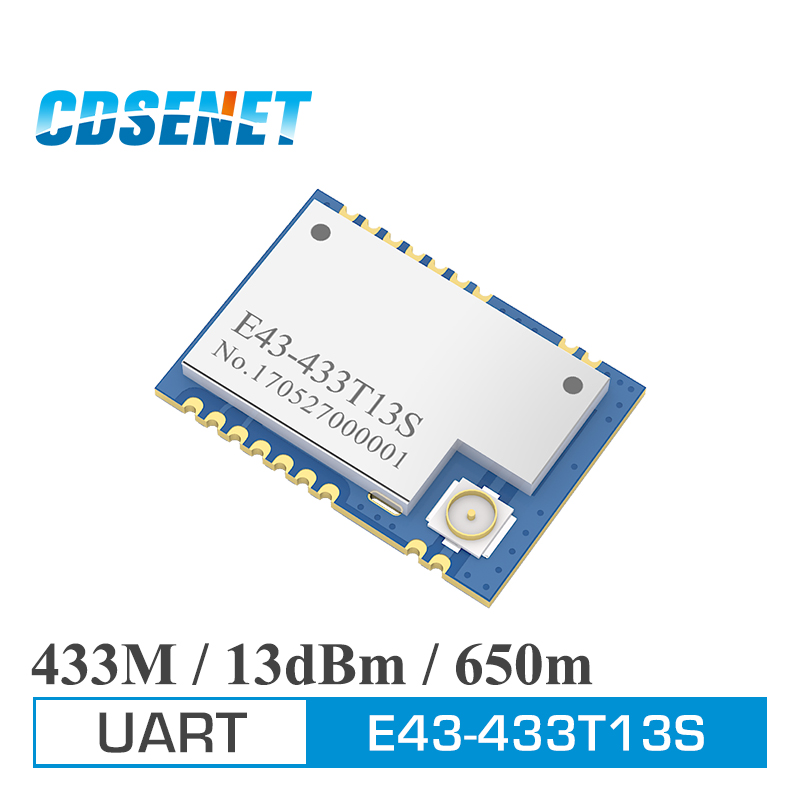 433MHz Transceiver SMD Module 13dBm IPEX CDSENET E43-433T13S UART Low Power Consumption 433 Mhz RSSI Transmitter Receiver
