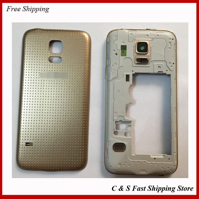 best cheap 1a342 03289 US $11.5 |Gold / White For Samsung Galaxy S5 Mini Housing Middle Bezel  Frame +Rear Back Cover Replacement-in Mobile Phone Housings from Cellphones  & ...