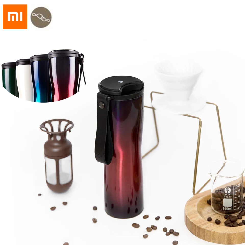 Xiaomi Mijia Smart Moka Coffee Vacuum Thermos Travel Mug Touch Temperature Display Screen Stainless Steel 430ML Coffee Cup stainless steel thermos with handle insulate bpa free thermal coffee mug for hot and cold drinks kids vacuum mug travel cup