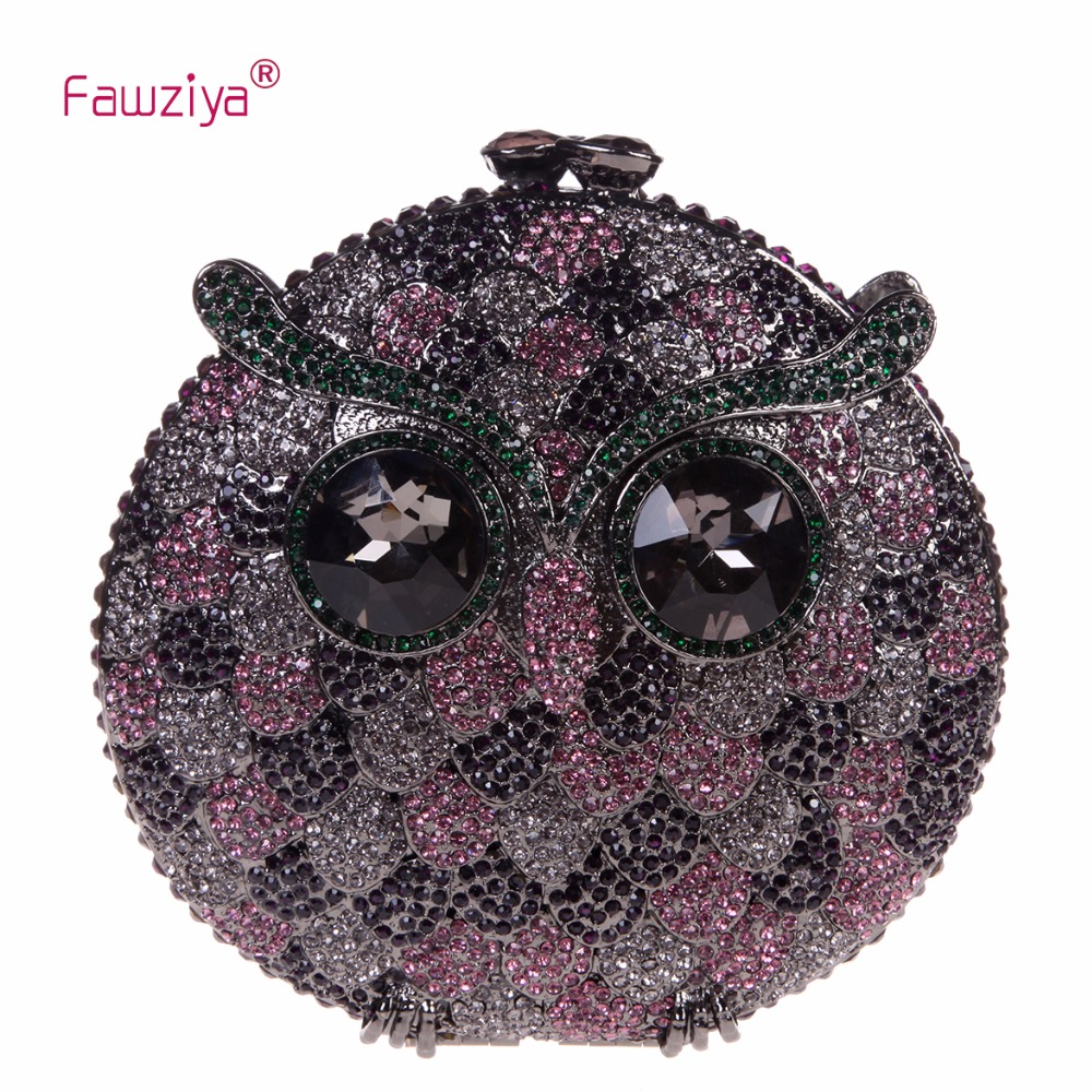 Fawziya Famous Designer Purses And Handbags 2016 15cm Luxury  Owl Purses And Handbags For Womens Evening Bags fawziya bag rhinestone 15cm luxury natural stone purses and handbags for womens bags