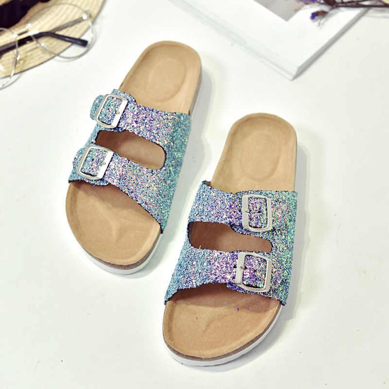 Новый Для женщин и детей блестящие босоножки Гладиатор Стринги Вьетнамки без каблука обувь на завязках