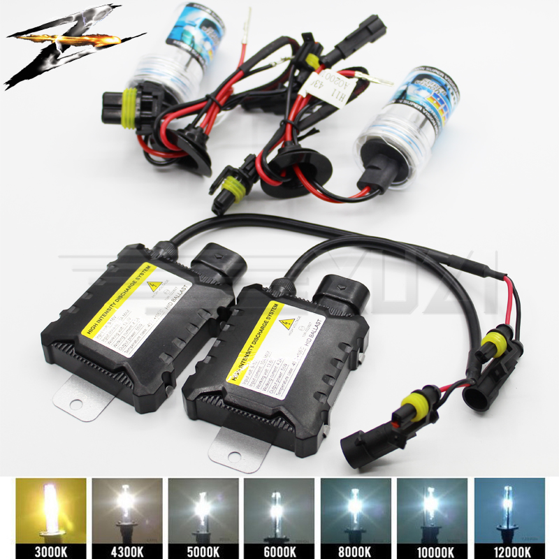 1 set h7 <font><b>h1</b></font> H11 35W <font><b>Xenon</b></font> HID Kit Metal Ceramic Base <font><b>Xenon</b></font> Bulb <font><b>Lamp</b></font> 4300K 6000K 8000K Digital Ballast for Car Headlight DC 12V image