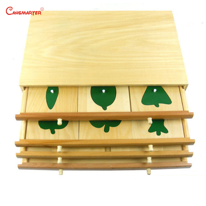 Botany Leaf Cabinet Puzzles Wooden Box Montessori Biological Teaching Toys Education Early Kids Preschool Materials - 5