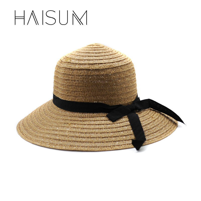 cdc904bdbae Haisum Hot New Fashion Summer Casual Ladies Wide Brim Beach Sun Hat Elegant  Straw Floppy Bohemia Cap For Women Dating HN48