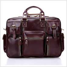 Genuine Leather Man Travel Bags Real Cowhide Leather Designer Man Duffle Luggage Bags Solid Travel Bag WH8098