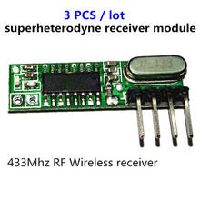 3 قطعة superheterodyne 433 ميجا هرتز rf اللاسلكية وحدة الاستقبال حجم صغير منخفض الطاقة ل 433 ميجا هرتز التحكم عن بعد
