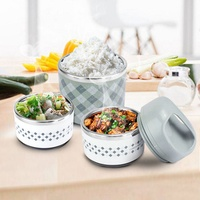 HOT 2 Layers Portable Stainless Steel Insulation Bento LunchBox Children S Tableware Thermal Food Container Food