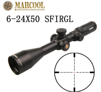 2017 New MARCOOL EVV 6 24X50 SFIRGL FFP Tactical Air Rifle Aiming Range Hunting Range Optical