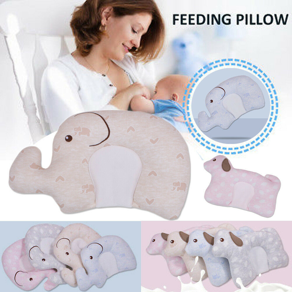 Infant Newborn Baby Soft Shaping Pillow Sleeping Support Cushion Prevent Flat Head Baby Cute Elephant Cartoon U-shaped Pillow