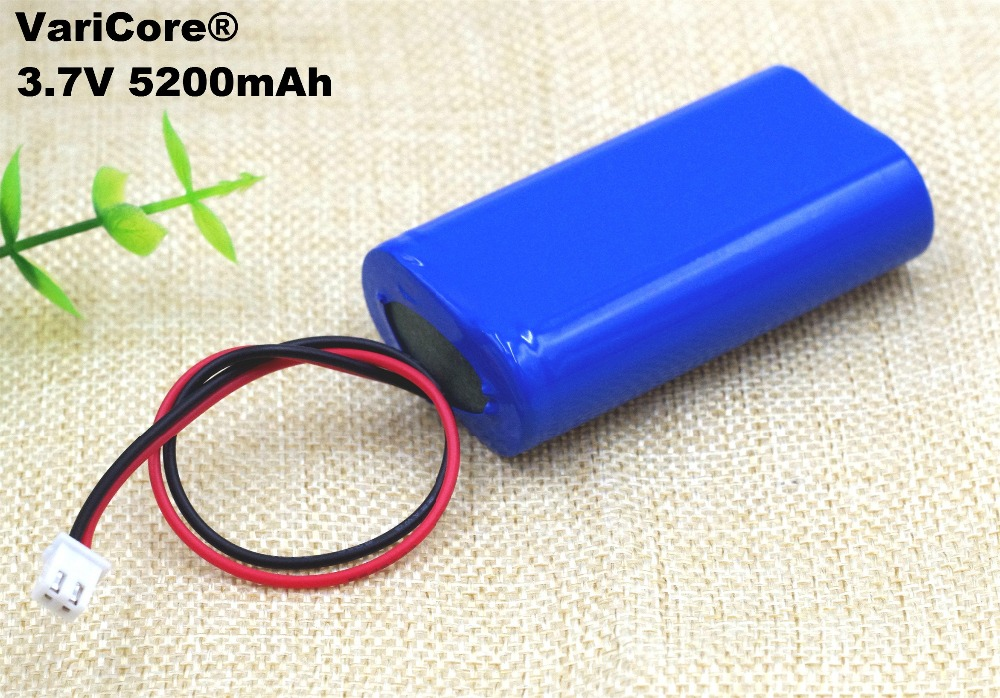 3.7V 5200mAh 18650 Lithium Battery Pack Fishing LED Light Bluetooth Speaker 4.2V Emergency DIY batteries+ Protection