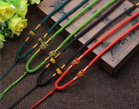 100 strands/バッグネックレスナイロンコードチェーンchoker用チベットdziビーズ付きガラス、調