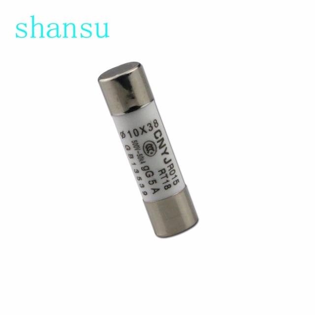 10PCS 10*38mm Ceramic fuse tube fuse R015 RT15 RT14 10x38mm 250V 380V 500V 1A  2A  3A 4A 5A 6A  8A 10A 16A 20A 25A  32A