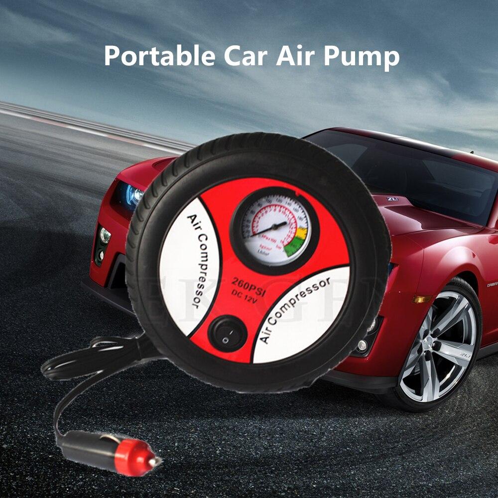 2018 Mini Car Inflatable <font><b>Pump</b></font> Air Compressor <font><b>Tire</b></font> Design Portable Input Air Pumping <font><b>Pumps</b></font> Voltage Electric Inflating AUTO