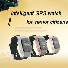 2016 El Más Nuevo GPS Tracker Inteligente Relojes de pulsera la vigilancia Por Satélite de Doble Localizar Monitor Remoto SOS Para El hombre de edad