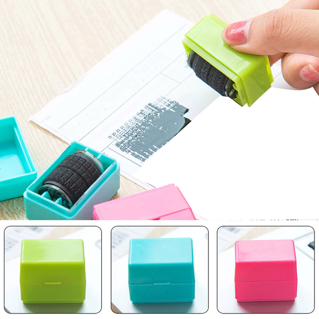 Self Seal Code Roller Identity Theft Protection Stamp Inking Stock Guard Your ID