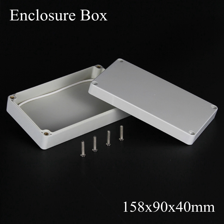 (1 piece/lot) 158*90*40mm Grey ABS Plastic IP65 Waterproof Enclosure PVC Junction Box Electronic Project Instrument Case waterproof abs plastic electronic box white case 6 size