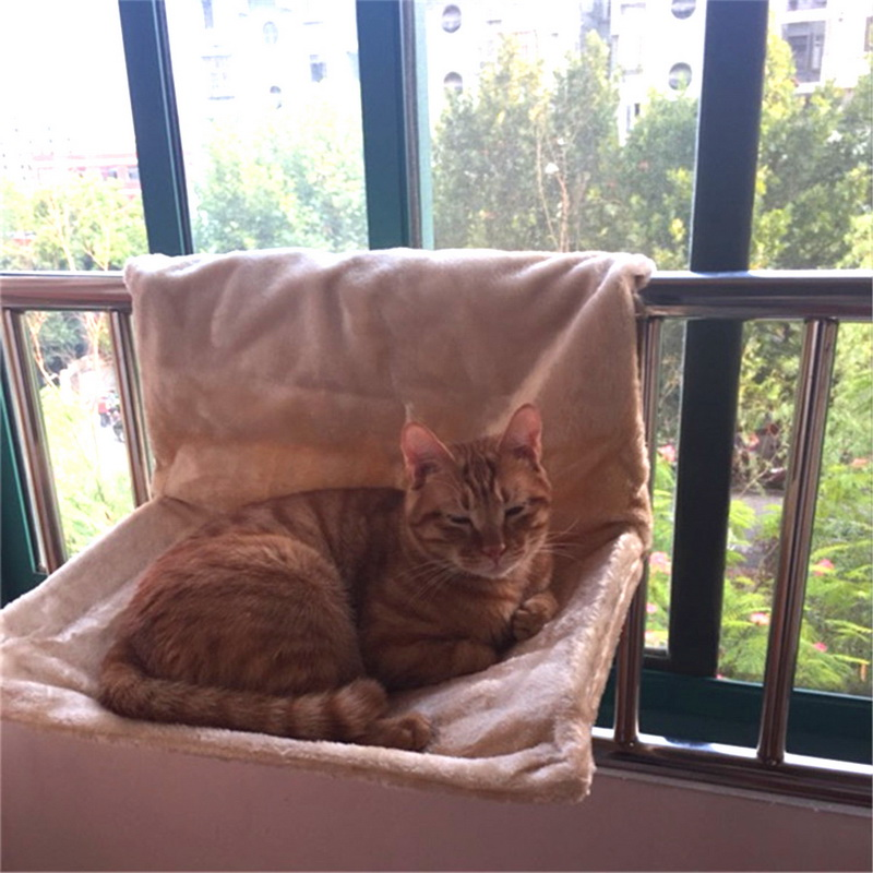Deluxe Removable Window Sill Cat Radiator Bed Hammock Perch Seat Lounge Pet Kitty Hanging Bed Cosy Cat Hammock Home & Garden Cat Beds & Mats