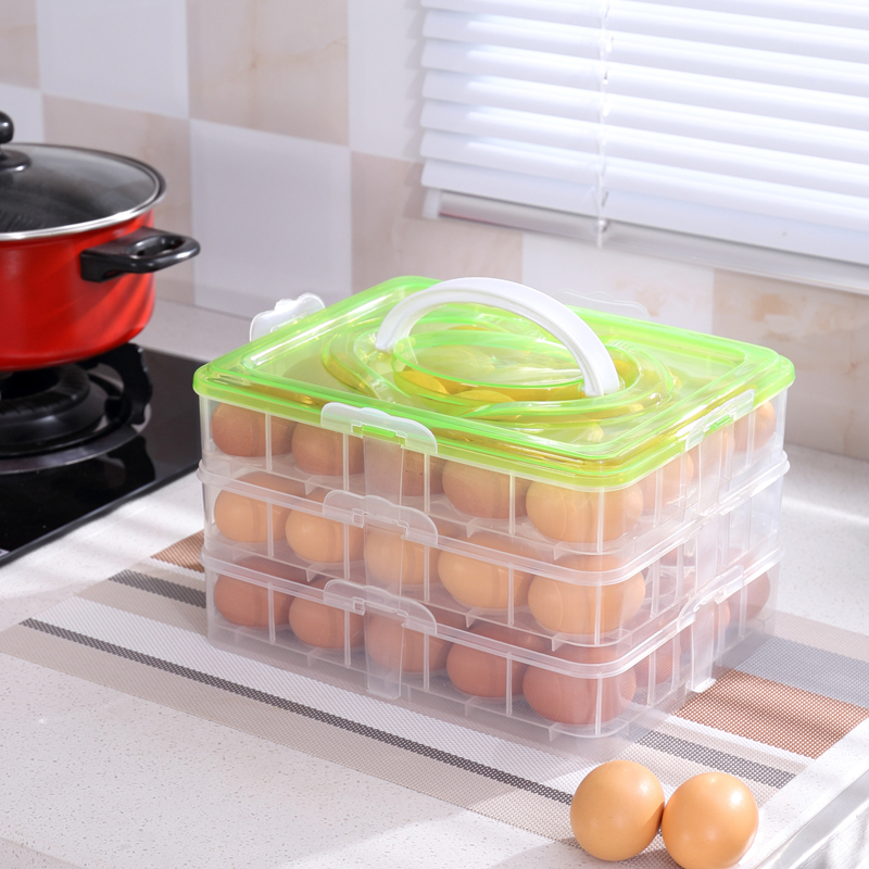 Household Items Portable Egg Boxes Storage Box Shelf 3 Cells Egg Storage Boxes 36 Grids