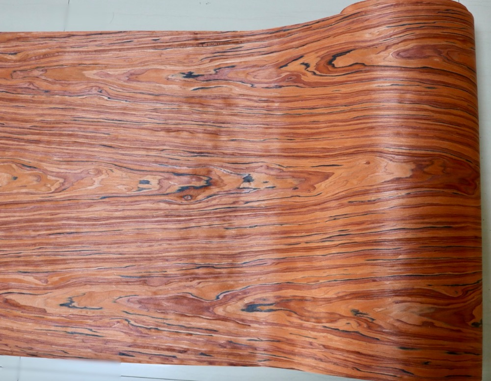 2Pieces/Lot L:2.5Meters   Wide:60CM  Thickness:0.2mm  Home Decor Furniture Wood Veneer Decorative Flower Pattern
