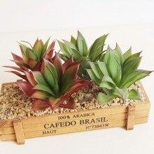 Искусственные суккуленты композиции поддельные растения стебли мини искусственный суккуленты декоративные пластиковые кактус зелень дешево