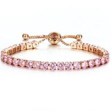 2019 Charm Beads Austrian Crystal Bracelet For Women Luxury Rose Gold Color Adjustable Jewelry Fine Gift Girl Pulseira Feminina цена 2017
