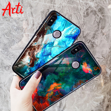 Marble Case For Xiaomi Redmi 4X Tempered Glass Soft TPU Phone Case For Xiaomi Redmi Note 5 Pro Global Cover