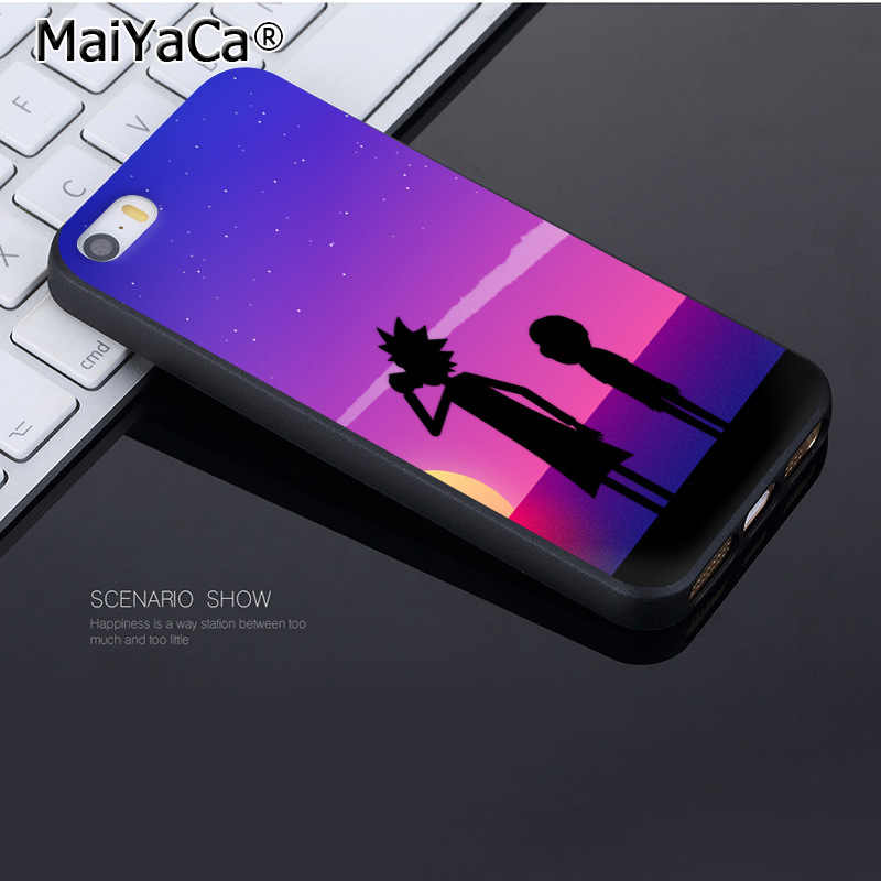 MaiYaCa For iphone 7 6 X Case Rick and Morty pickle rick Coque Shell Phone Case  for iPhone 7 6 X 8 6s Plus 5 5S SE XS XR Case