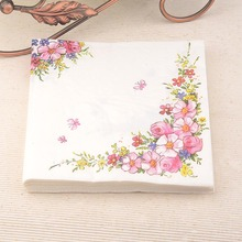 Салфеткой праздничный бумажной шт./упак./lot декупаж кафе салфетки партия ткани розовый &
