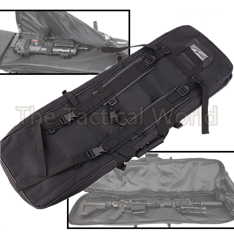 Tactical Airsoft 85 100 120cm Gun Bag Case Paintball Double Carbine Padded Case Gun Bag Backpack Rifle case Square Bag Accessory outdoor sports molle tactical airsoft paintball rifle m4 carbine shotgun bag hunting gun backpack