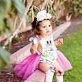Dia de Páscoa Romper Do Bebê recém-nascido Meninas Bonitos Coelho Parttern Macacão de Bebê Meninas Bonito Lantejoulas Coelho Algodão Sunsuit 81670