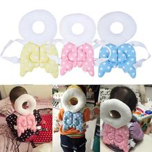 lovely Cartoon Wings Design Baby Walk Head Back Pad  Chrismas Gift Learning Head Protection Soft Flannel Toddler Headrest Pillow