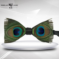cf0e081be Fashion Mens Accessories Neckties Silk Tie Men Gift Natural Peacock  Decoration Bow Tie Bowtie