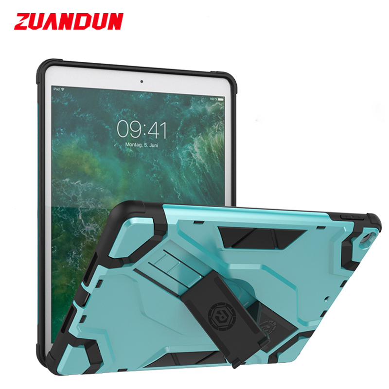 For New iPad 2018 A1893 Case Armor Shockproof Protective Case For iPad 9.7 inch 2017 A1822 Silicone TPU + PC Holder Cover Shell brass cone shade pendant light edison bulb led vintage copper shade lighting fixture brass pendant lamp d240mm diameter ceiling
