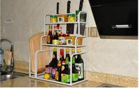Wrought iron microwave oven shelf. Double microwave oven rack. Kitchen shelf.