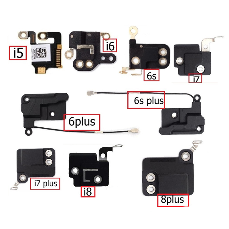 Genuine GPS Signal Antenna Flex Cable For IPhone 5 6 6s 7 8 Plus GPS Antenna Flex Ribbon Cable Wifi Cover Replacement Parts