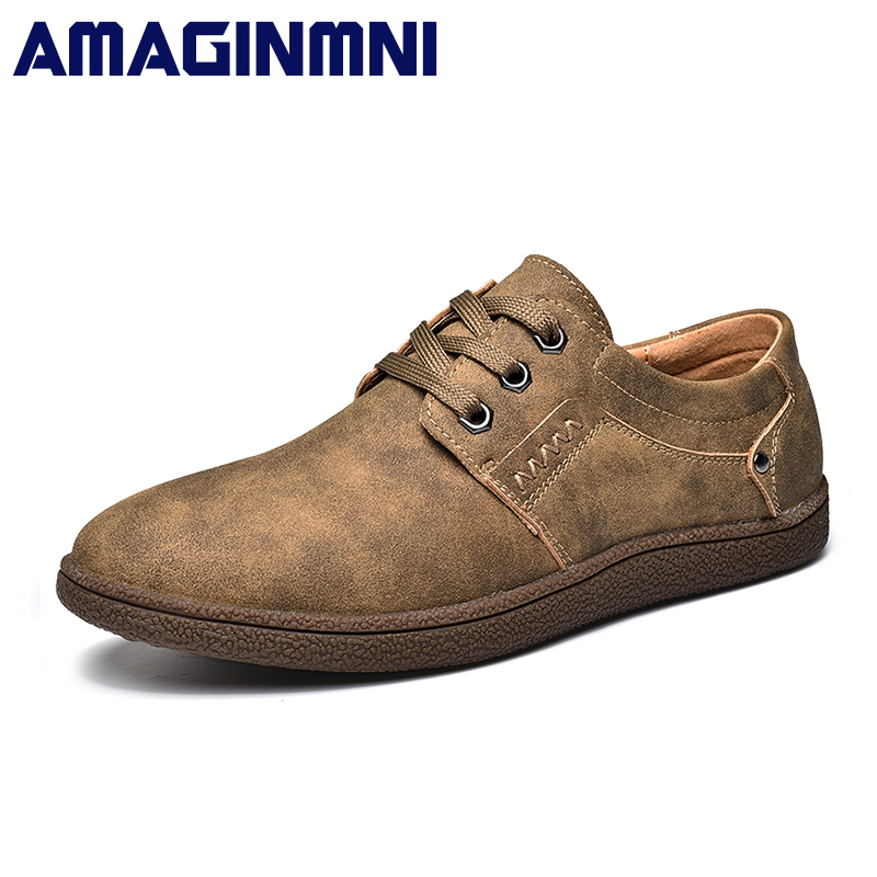 AMAGINMNI 2018 new mens Casual Shoes Lace-up Breathable fashion spring autumn Flats fashion Male shoes Hot Sale Loafers shoes hot sale new breathable mesh shoes balsen fashion women casual shoes luxury brand casual mens women flats shoes mens trainers page 1
