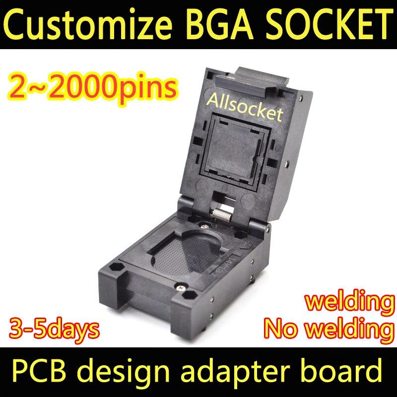 BGA672 Custom socket adapter test jig BGA LGA672 LBGA672 CSP672 QFN672 SOCKET CPU LPDDR North Bridge South