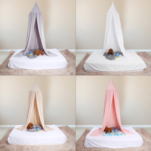 Mosquito Net Nordic Style Kids Decoration Klamboe Dome Hanging Cotton Bed Canopy Mosquito Net Curtain For Hammock Baby Kids