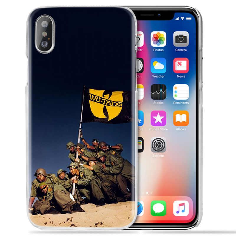 Чехол для iPhone XS Max XR X 10 7 7S 8 6 6S Plus 5S SE 5 4S 4 5C Прозрачный жесткий пластиковый чехол для телефона, оболочка Wu Tang Clan хип-хоп
