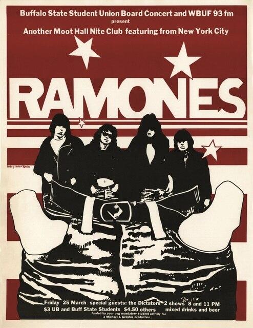 Ramones Rock Metal Music Band Poster Classic Retro Vintage