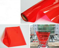 60cmx200cm Waterproof Roll Car Red Glass Window Protective Film Tint 99% UV Rejection 13% Visible Light Transmittance Stickers
